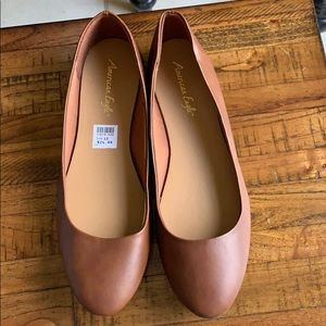 NEW American Eagle brown flats shoes